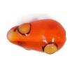 Glass Lamp Bead 15x9mm Pear Shape Orange